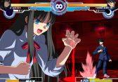 """Melty Blood: Videojuego del cual nació la serie de Anime """"Lunar Leyend Tsukihime"""", desarrollado por Arc System Works, lamentablemente no tendrá lugar en esta Revolution, se lo va a extrañar, ya tiene su tiempito, perfecta eleccion para conmemorar los 20 años de Anime Fighting Games!! =D"""